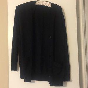 J Crew black cardigan size XS
